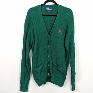 Polo by Ralph Lauren Vintage Golf Cardigan Size L
